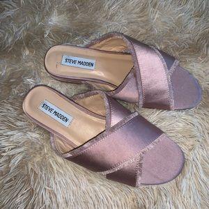 Steve Madden Womens Syruss Flat Sandals Blush 7